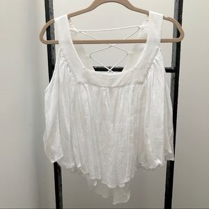 "Mara Hoffman White Gauze ""Butterfly"" Top"